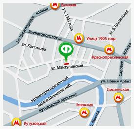 Карта проезда к магазину на Мантулинской