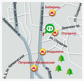 Карта проезда к магазину на Алтушке