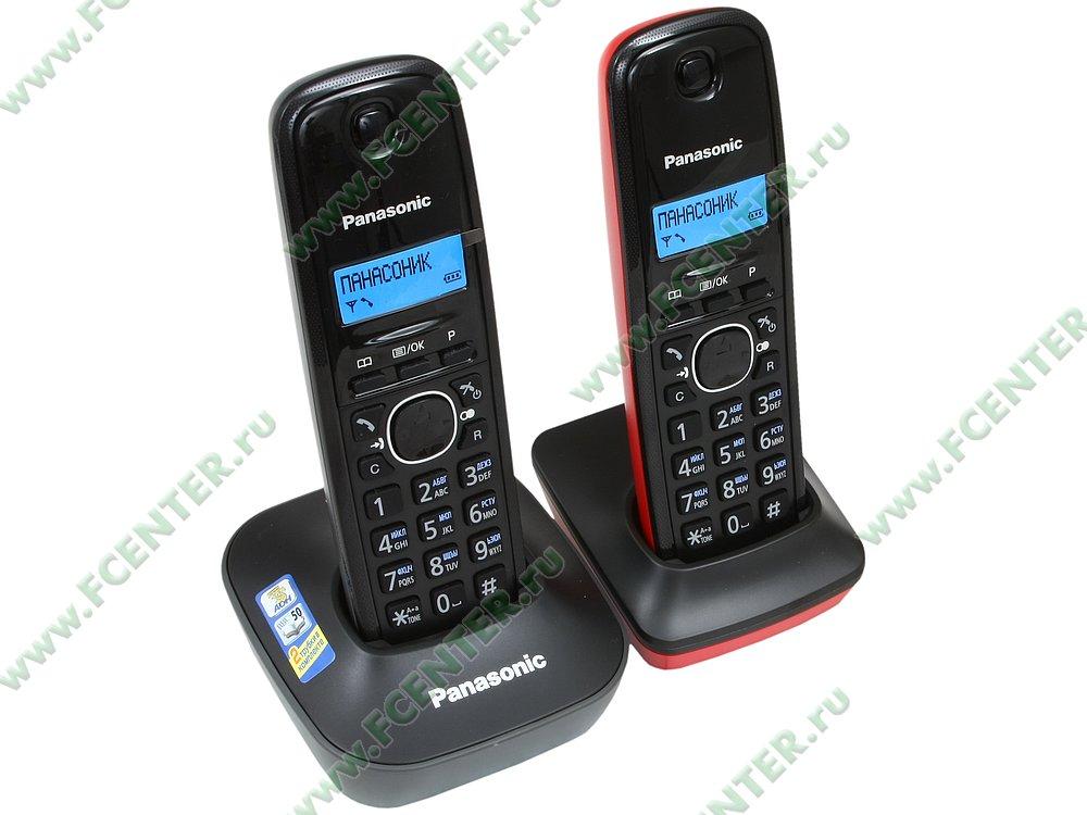 "Радиотелефон Panasonic ""KX-TG1612RU3"". Вид спереди."