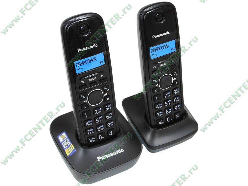"Радиотелефон Радиотелефон Panasonic ""KX-TG1612RUH"". Вид спереди."