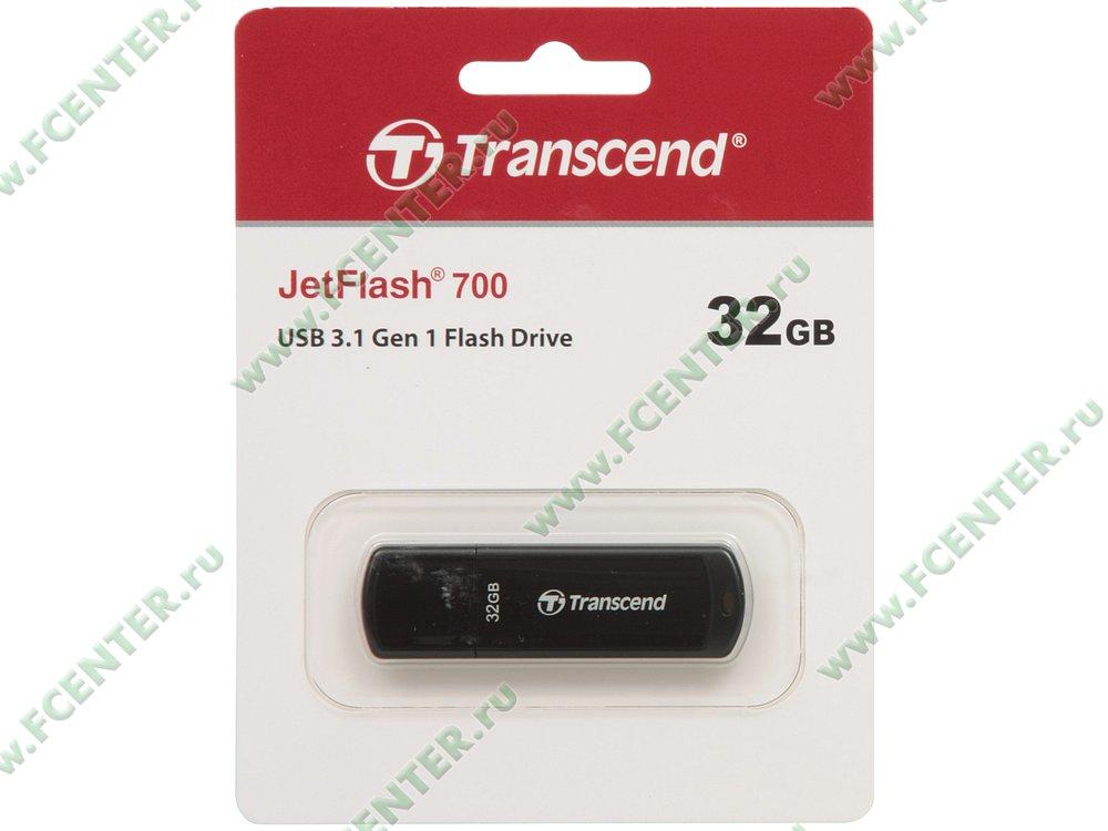 """Накопитель USB flash 32ГБ Transcend """"JetFlash 700"""" (USB3.0). Коробка 1."""