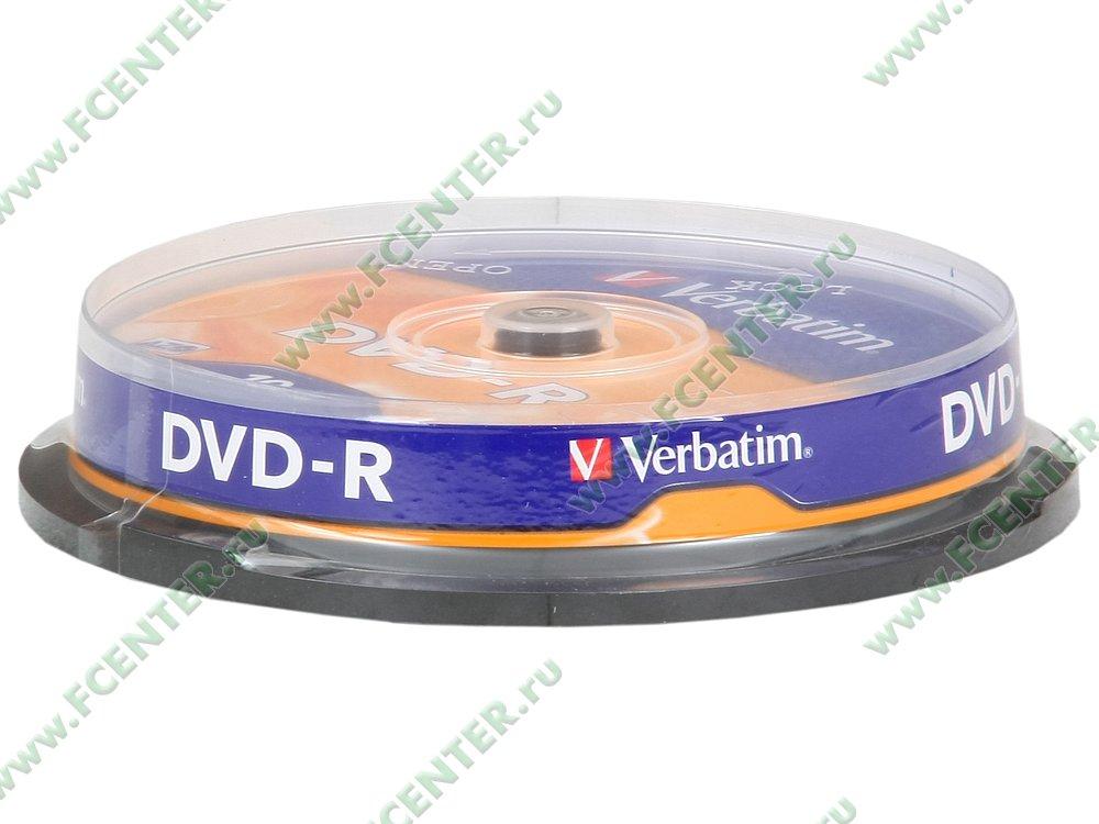 """Диск DVD-R 4.7ГБ 16x Verbatim """"43523"""" (10шт./уп.). Коробка 1."""