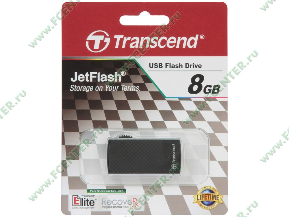 """Накопитель USB flash 8ГБ Transcend """"JetFlash 560"""" (USB2.0). Коробка."""