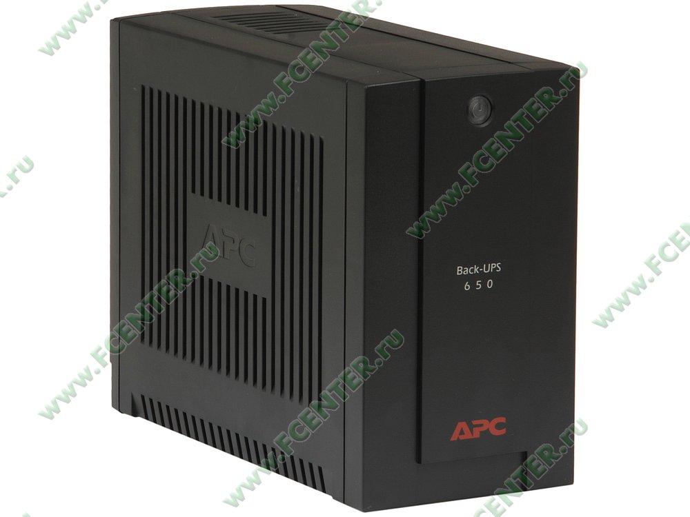 """Источник бесперебойного питания 650ВА APC """"Back-UPS 650"""" (USB). Вид спереди."""
