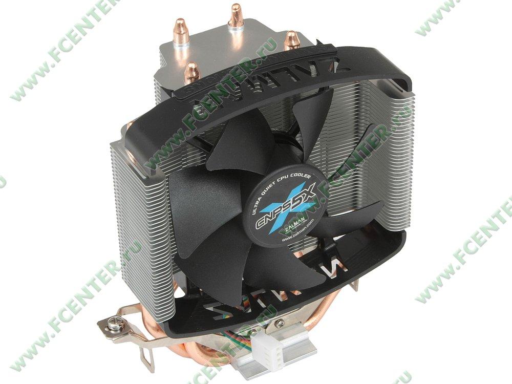 """Кулер для процессора Zalman """"CNPS5X Performa"""". Вид спереди 1."""