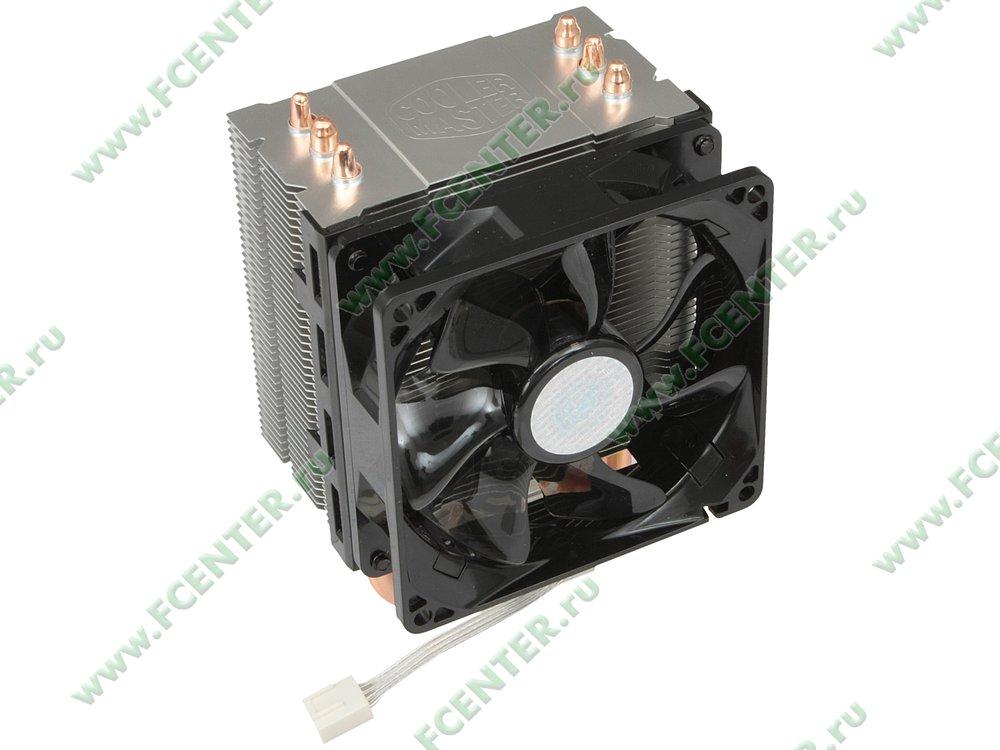 "Кулер для процессора Cooler Master ""Hyper TX3 Evo RR-TX3E-22PK-R1"". Вид спереди 1."