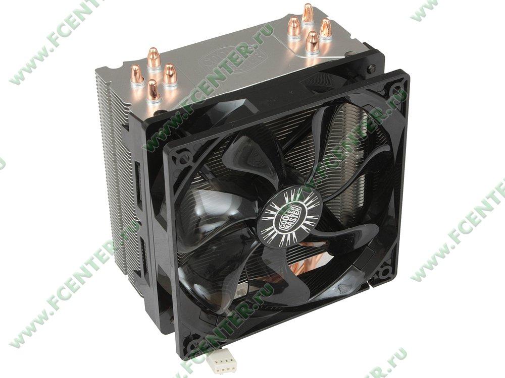 "Кулер для процессора Cooler Master ""Hyper 212 Evo RR-212E-16PK-R1"". Вид спереди 1."