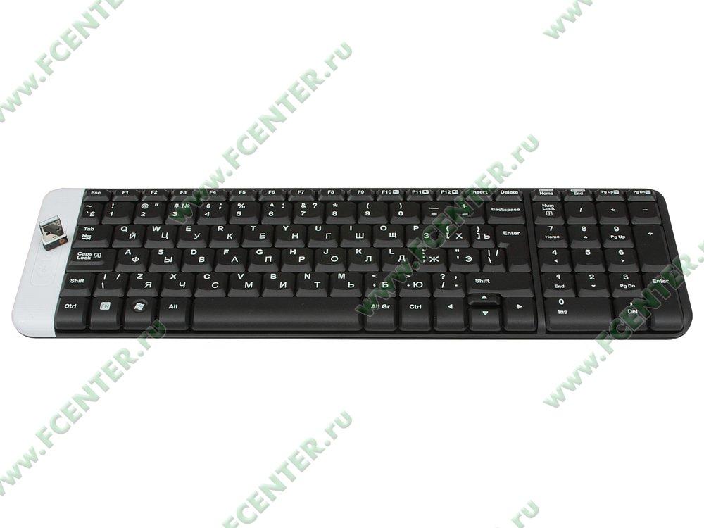 """Клавиатура Logitech """"k230 Wireless Keyboard"""" (USB). Вид спереди."""