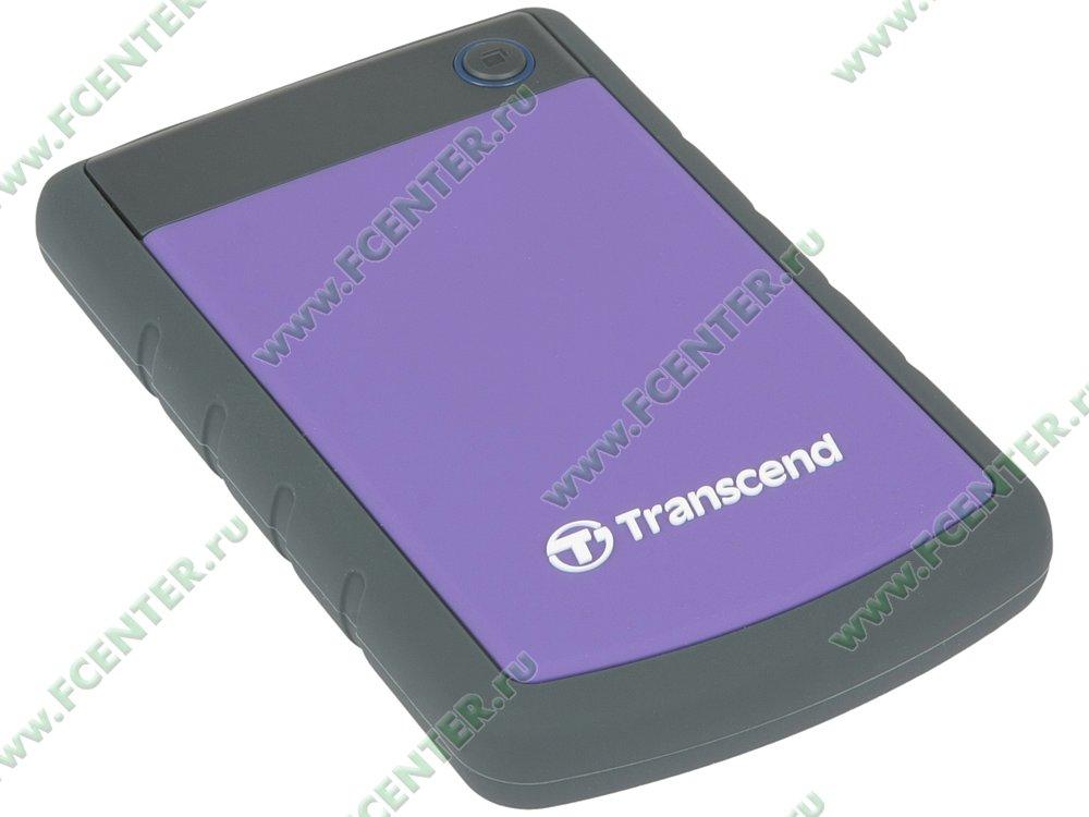 "Внешний жесткий диск 1ТБ Transcend ""StoreJet 25H3"" (USB3.0). Вид спереди."