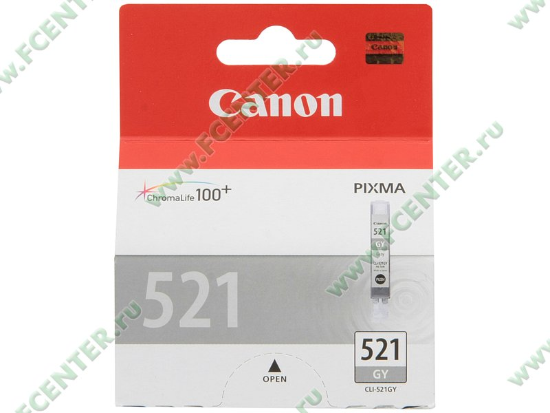 "Картридж Canon ""CLI-521GY"" (серый). Коробка."