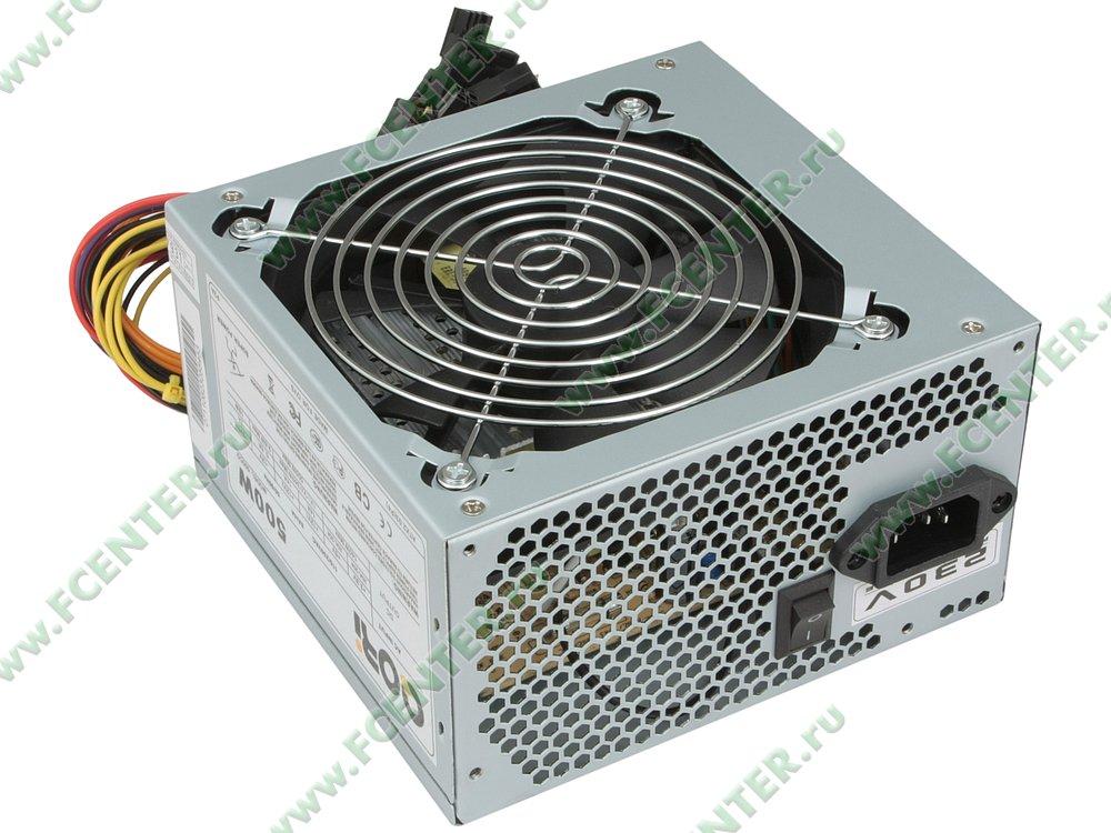 "Блок питания 500Вт Codegen ""QORi 500CG"" ATX12V V2.03. Вид спереди."