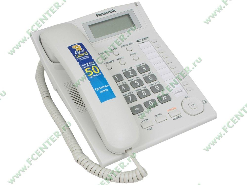 "Телефон Panasonic ""KX-TS2388RUW"". Вид спереди."