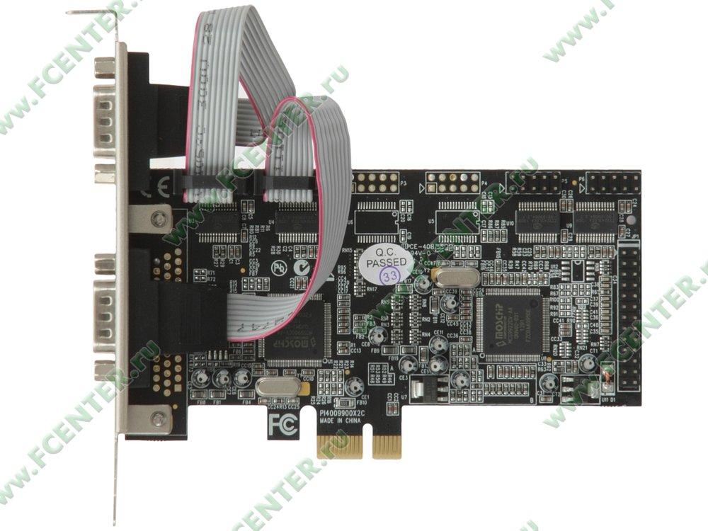 "Контроллер COM + LPT STLab ""I-461"" (PCI-E x1). Вид сверху."