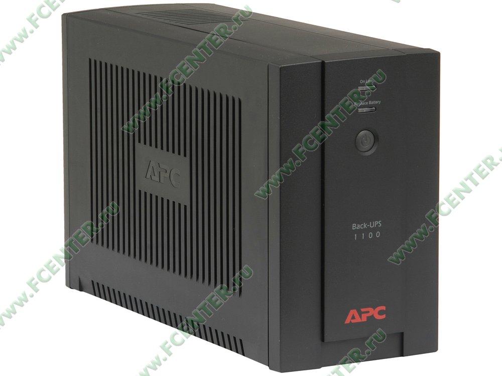 """Источник бесперебойного питания 1100ВА APC """"Back-UPS"""" (USB). Вид спереди."""