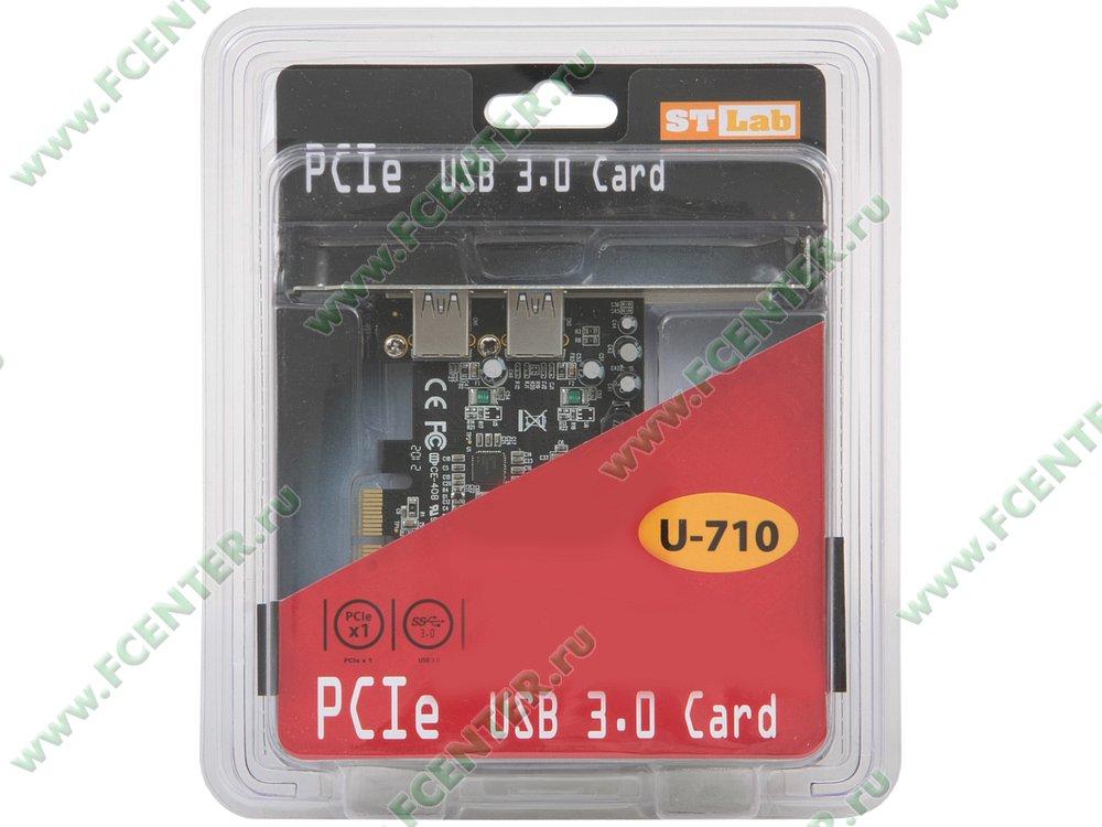 """Контроллер USB3.0 STLab """"U-710"""" (PCI-E x1). Коробка."""