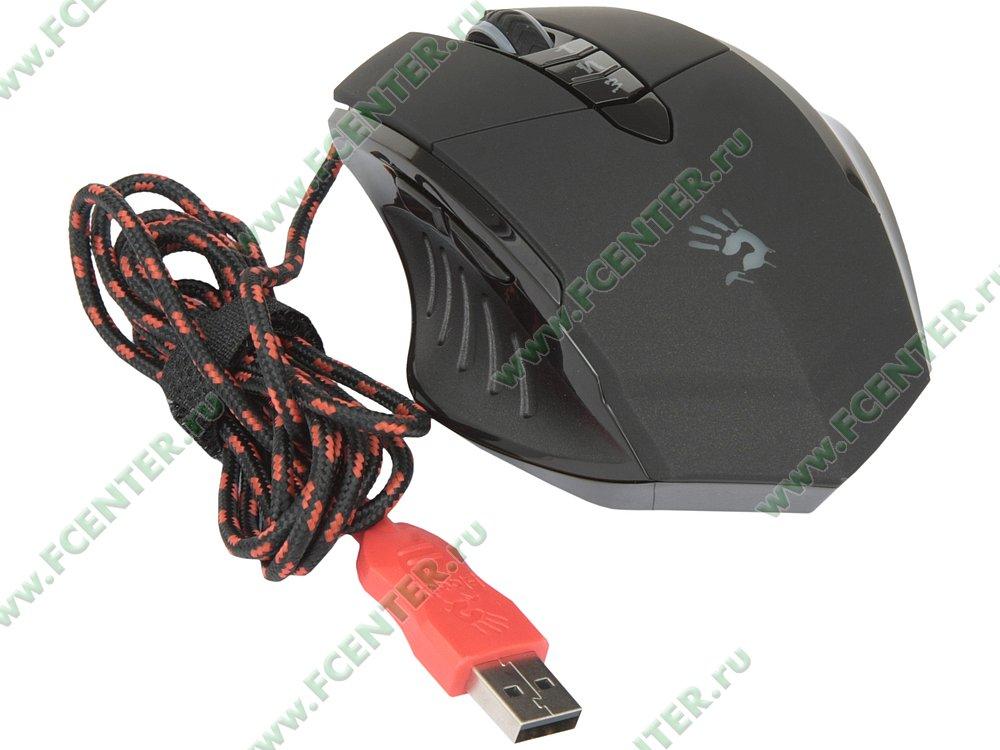 """Оптическая мышь A4Tech """"Bloody V7"""" (USB). Вид спереди."""