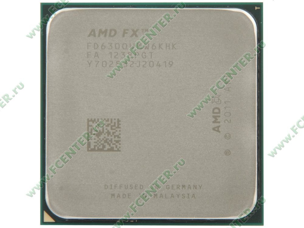 "Процессор AMD ""FX-6300"" SocketAM3+. Вид сверху."
