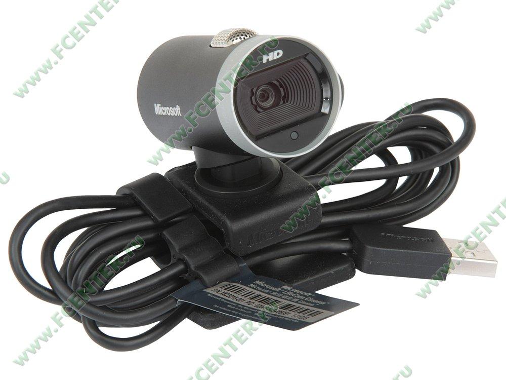 "Веб-камера Microsoft ""LifeCam Cinema HD"" (USB2.0). Вид спереди."