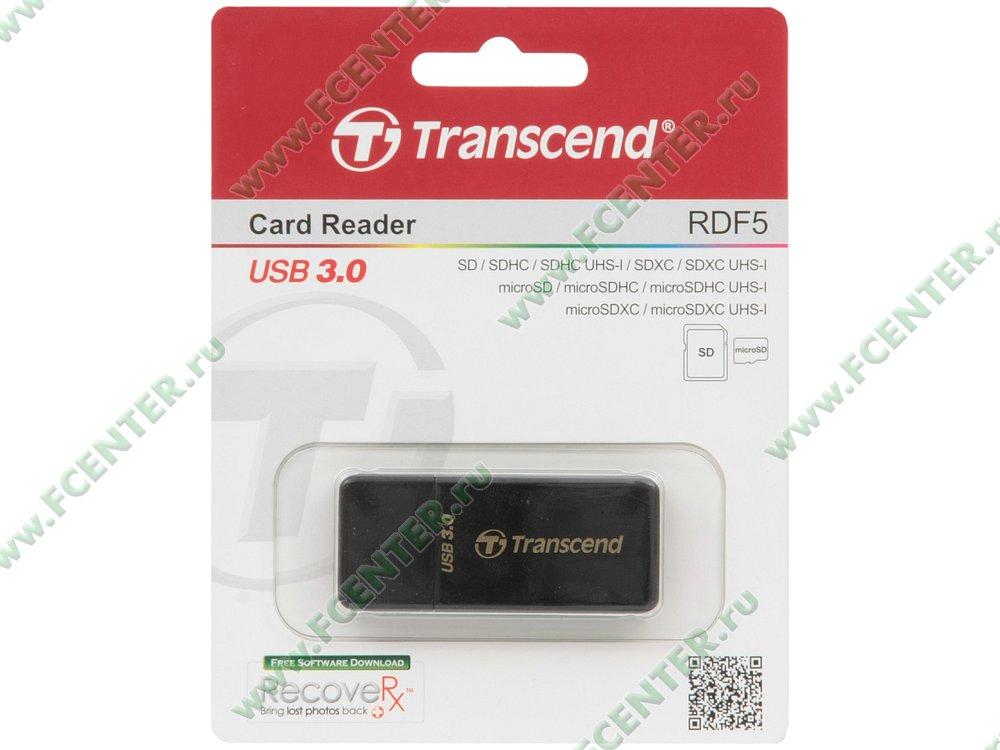 "Картридер Transcend ""TS-RDF5K"" (USB3.0). Коробка."
