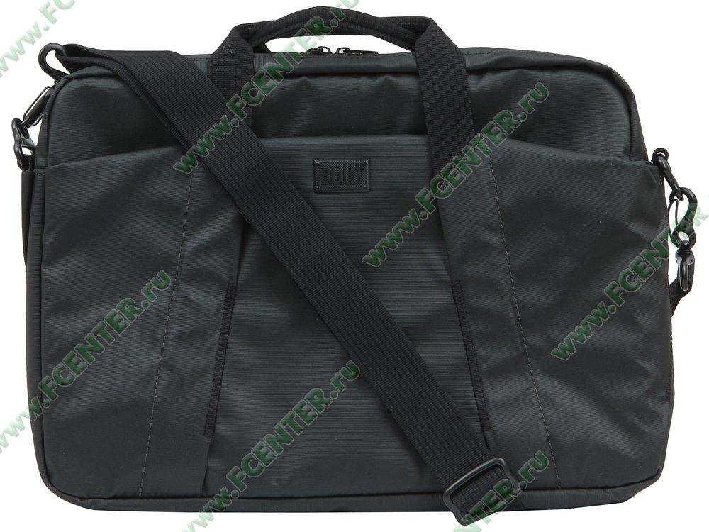 """Портфель BUILT """"Laptop Bag CE-LTBG-BLK"""". Вид спереди 1."""