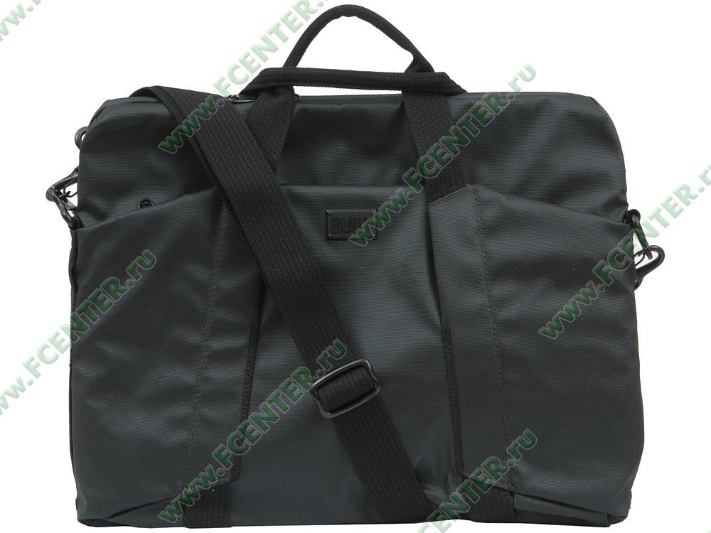 """Портфель BUILT """"Laptop Slim Bag CE-LTSB-BLK"""". Вид спереди 1."""