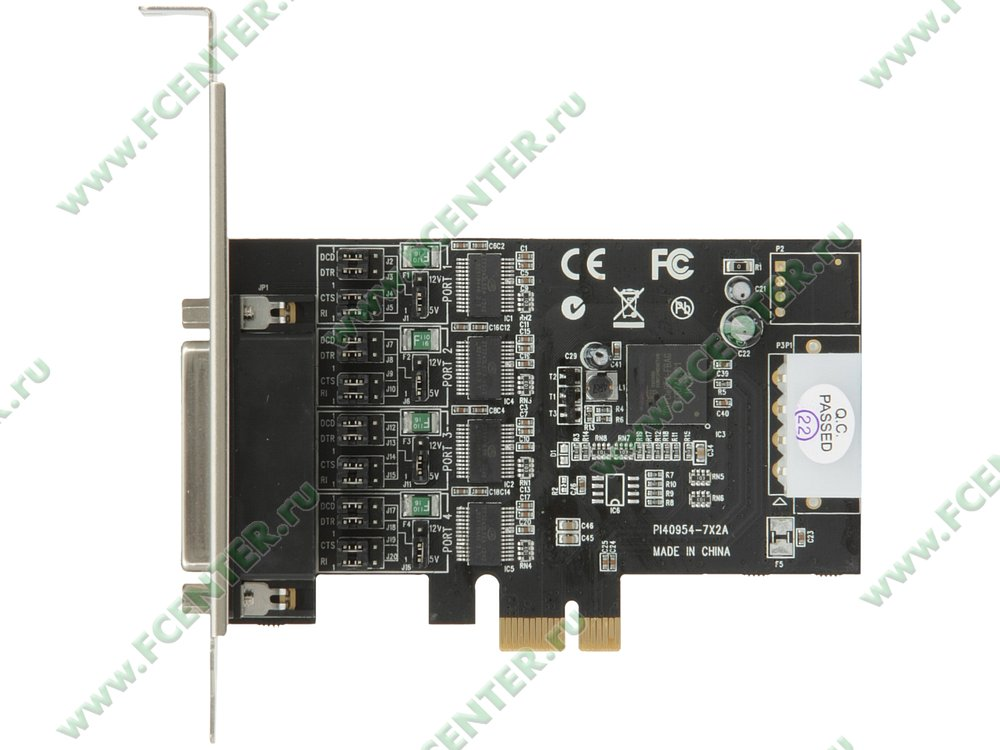 "Контроллер COM STLab ""CP-130"" (PCI-E x1). Вид сверху."