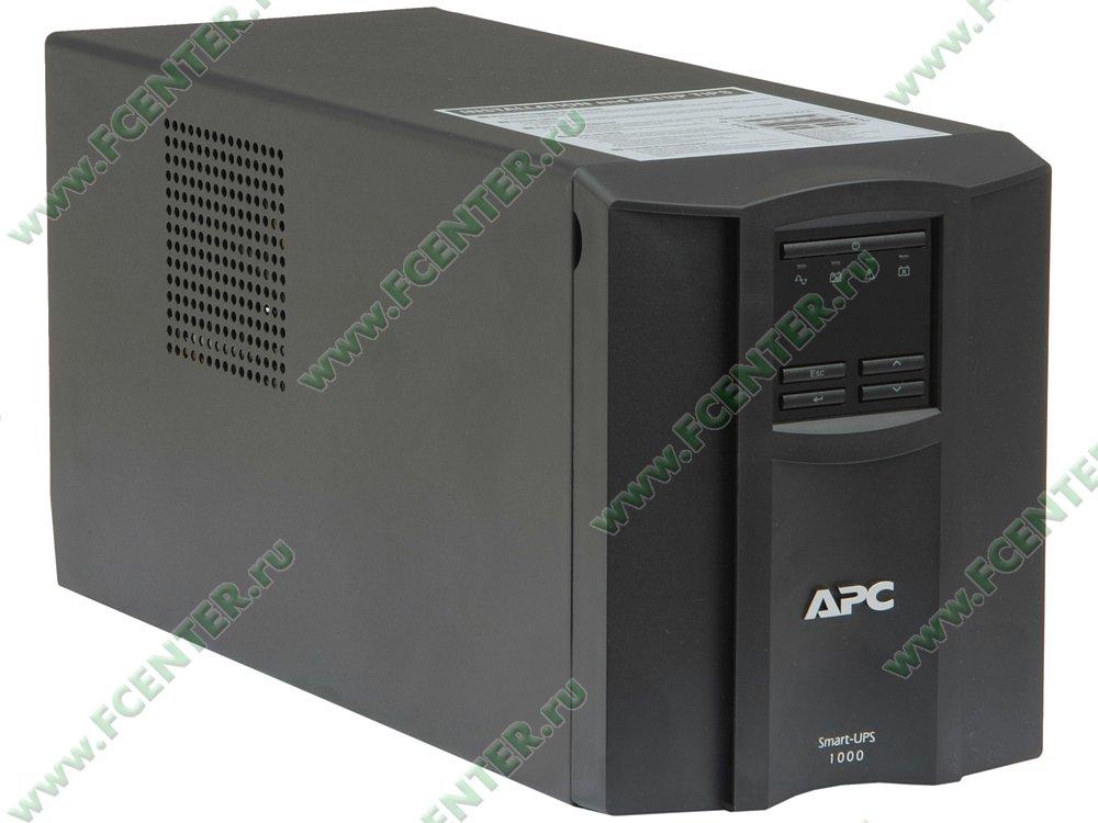 """Источник бесперебойного питания 1000ВА APC """"Smart-UPS 1000"""" (USB). Вид спереди."""
