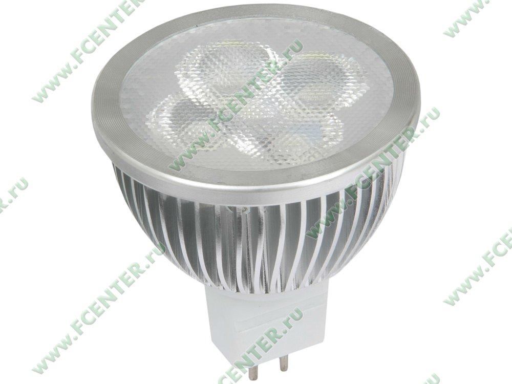 "Лампа светодиодная FlexLED ""LED-GU5.3-5W-CW"". Вид спереди."