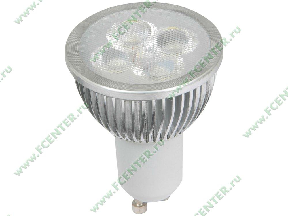 """Лампа светодиодная FlexLED """"LED-GU10-5W-WW"""". Вид спереди."""