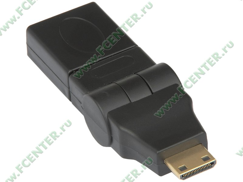 AHH-MINIHMHF-180-01-P1.  ПАРАМЕТР.  Переходник mini-HDMI - HDMI (F) поворотный, с позолоченными контактами.