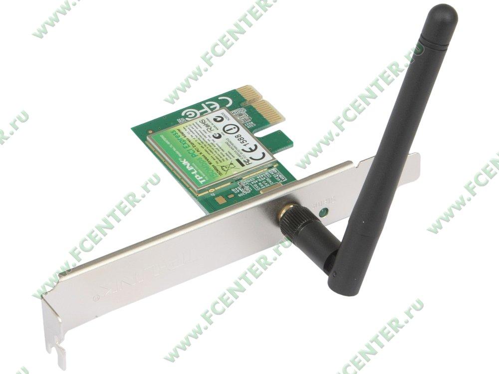 """Сетевая карта Wi-Fi TP-Link """"TL-WN781ND"""" (PCI-E x1). Вид спереди."""