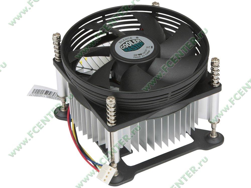 "Кулер для процессора Cooler Master ""DP6-9GDSB-PL-GP"". Вид спереди."