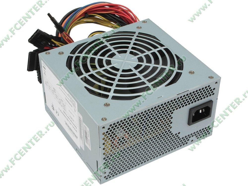 """Блок питания 500Вт IN-WIN """"Power Rebel RB-S500HQ7-0"""" ATX12V V2.0. Вид спереди."""