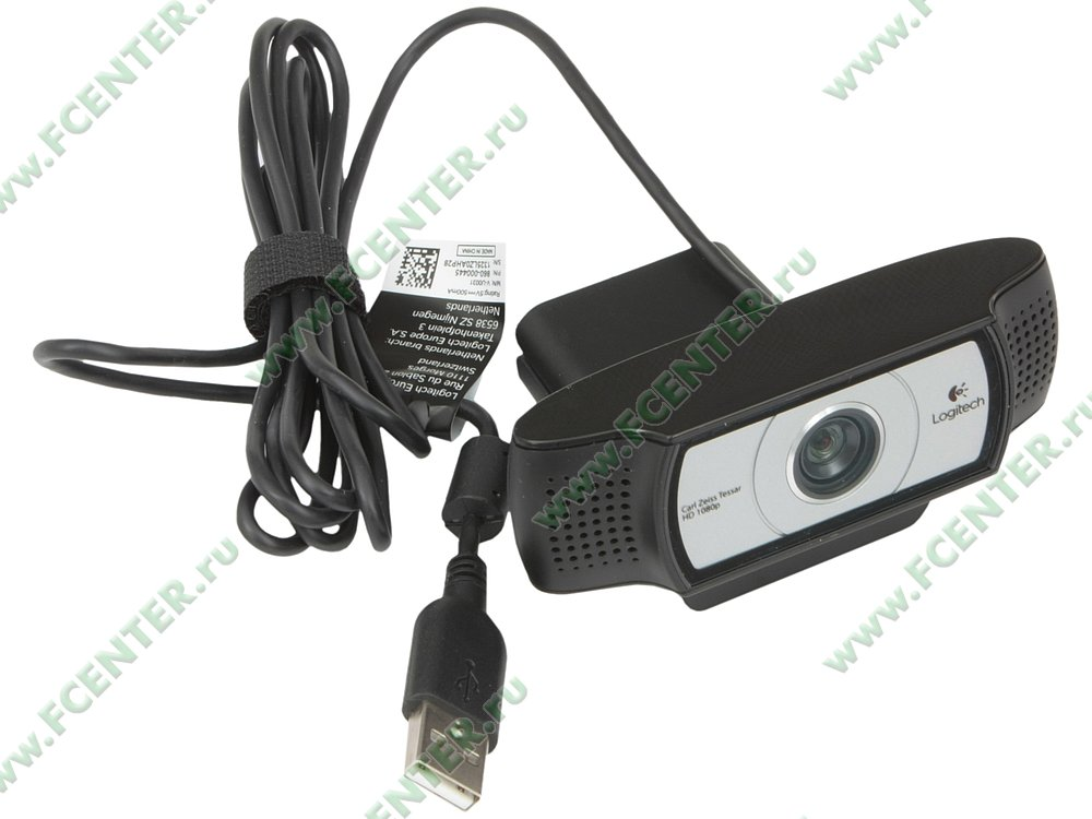 "Веб-камера Logitech ""C930e"" (USB2.0). Вид спереди."