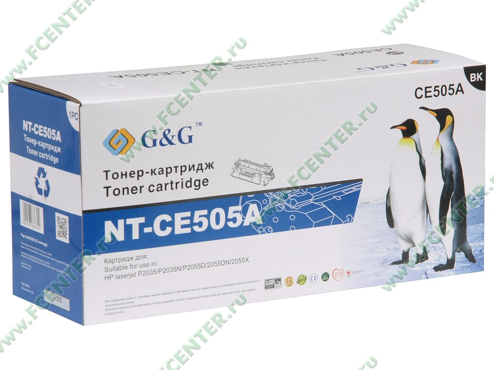 "Картридж G&G ""NT-CE505A"" (черный). Коробка."