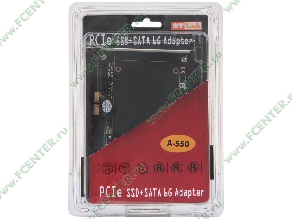 """Контроллер RAID SATA III STLab """"A-550"""" (PCI-E x2). Коробка."""