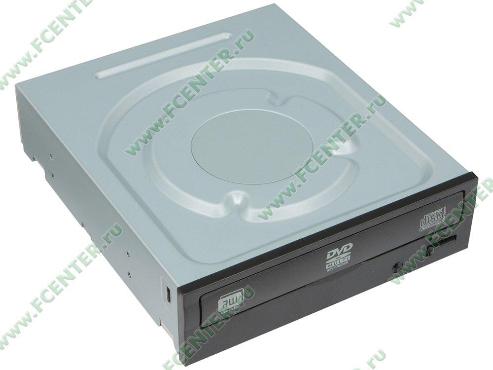 """Привод DVD±RW Привод DVD±RW 24x8x16xDVD/48x24x48xCD LITE-ON """"iHAS124-14"""", черный . Вид спереди 1."""