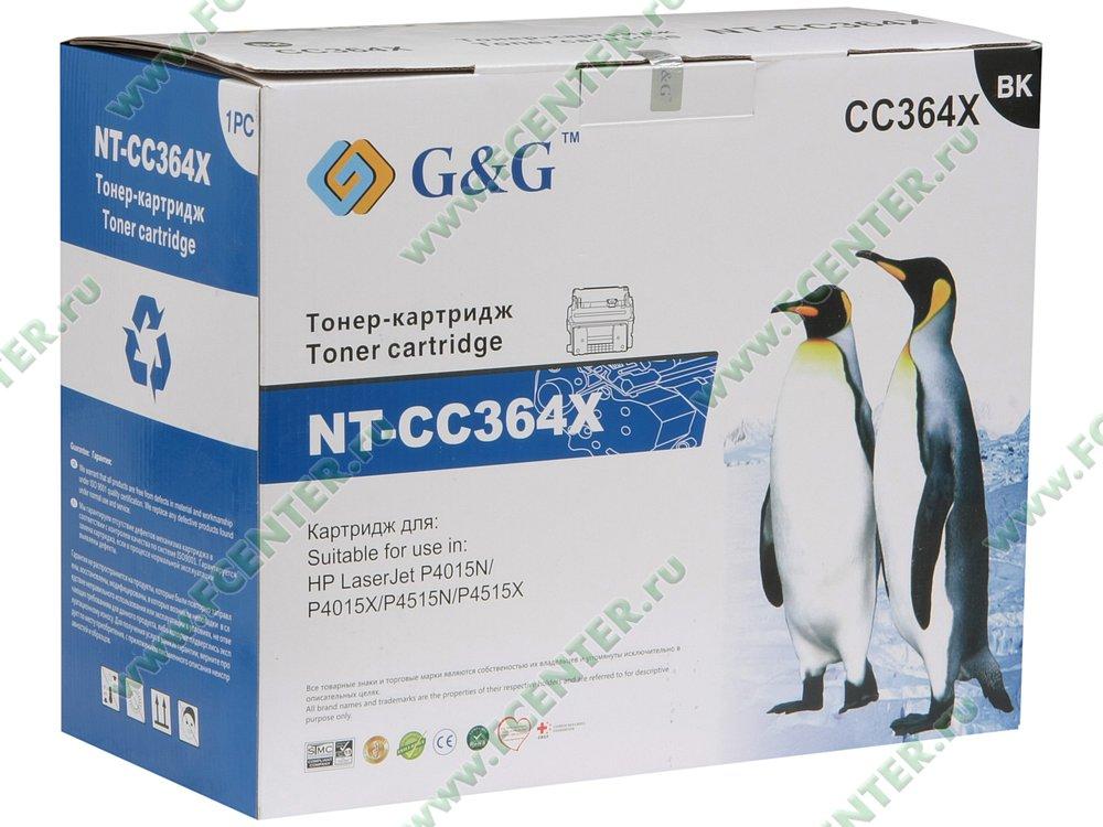"""Картридж Картридж G&G """"NT-CC364X"""" (черный). Коробка."""