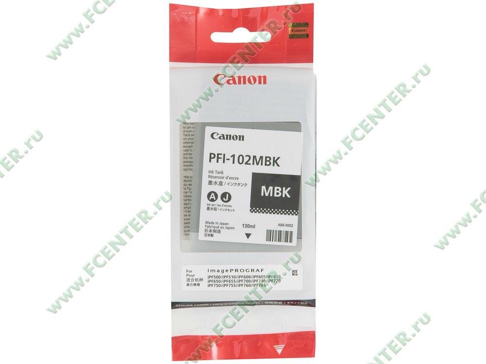 """Картридж Canon """"PFI-102MBK"""" (матовый черный). Коробка."""