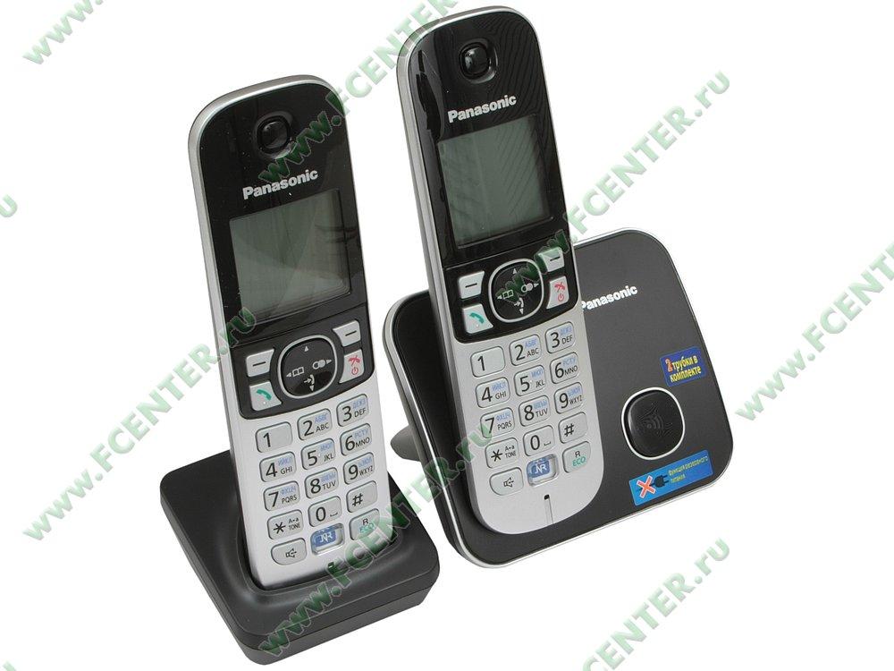 """Радиотелефон Panasonic """"KX-TG6812RUB"""". Вид спереди."""