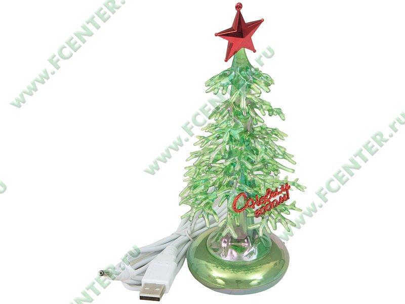 """Новогодняя елка ORIENT """"Зеленая Елочка с музыкой"""" 303G, светящаяся, муз. (USB). Вид спереди."""