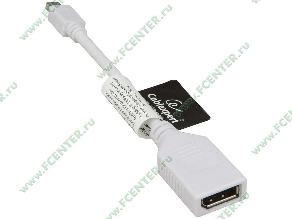 Кабель-переходник Кабель-переходник mini DisplayPort<->DisplayPort. Вид спереди.