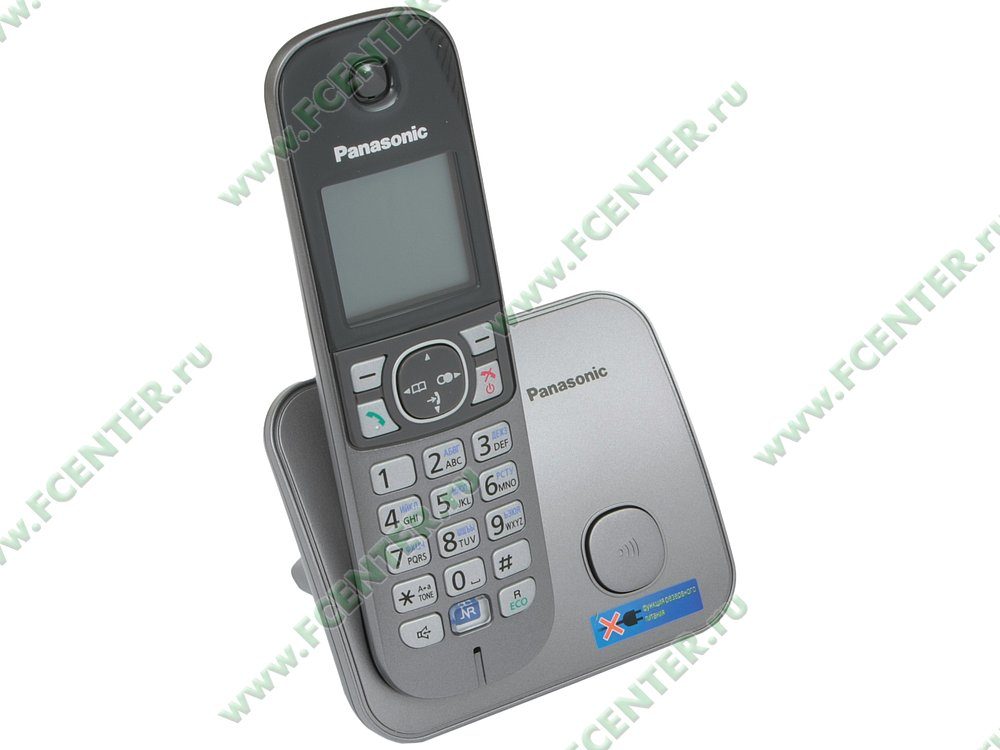 "Радиотелефон Panasonic ""KX-TG6811RUM"". Вид спереди."