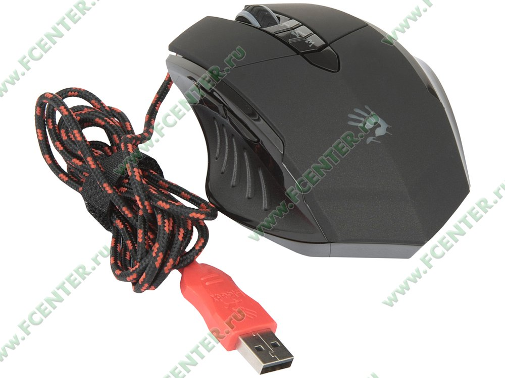 """Оптическая мышь A4Tech """"Bloody V7M"""" (USB). Вид спереди."""