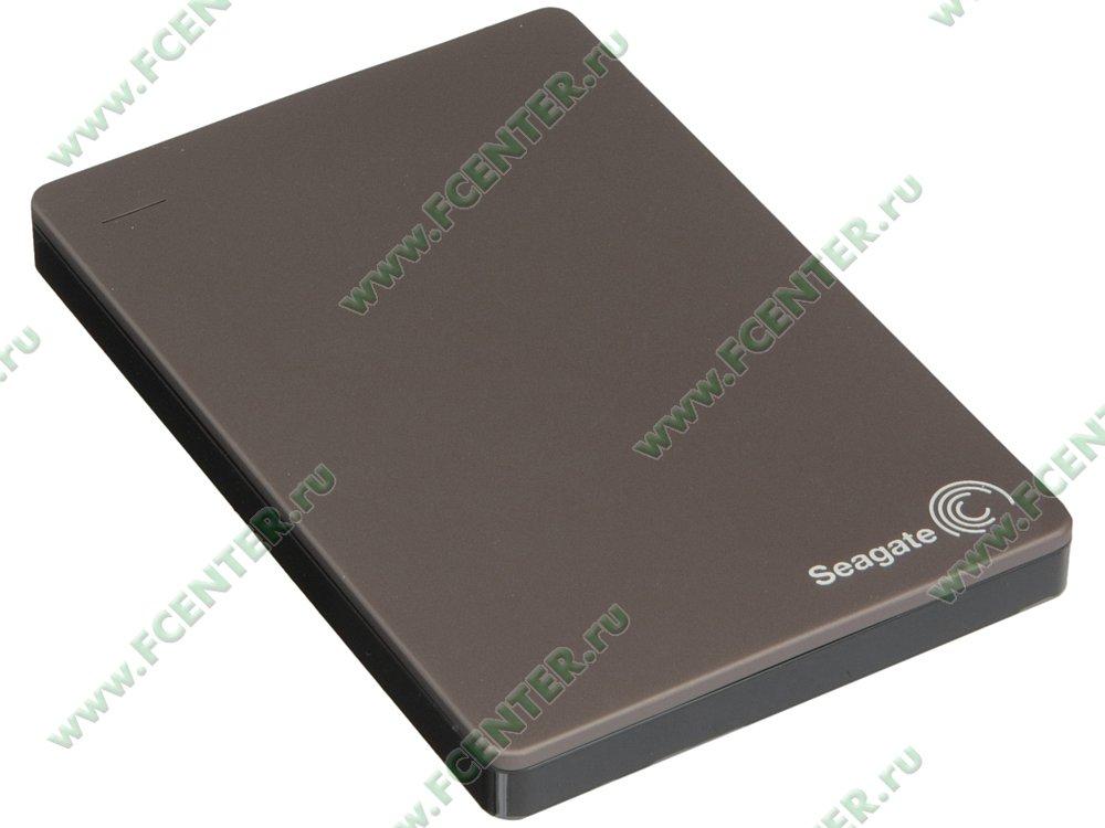 """Внешний жесткий диск 1ТБ Seagate """"Backup Plus Portable STDR1000201"""" (USB3.0). Вид спереди."""