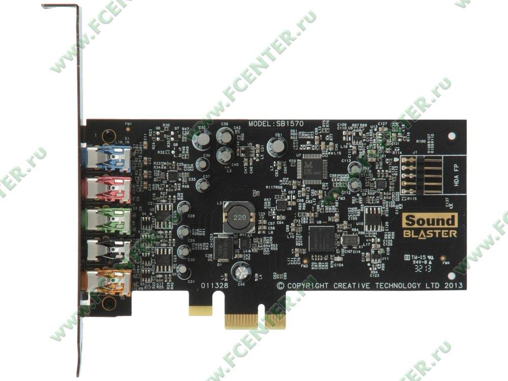 "Аудиокарта Creative ""Sound Blaster Audigy Fx"" (PCI-E x1). Вид сверху."