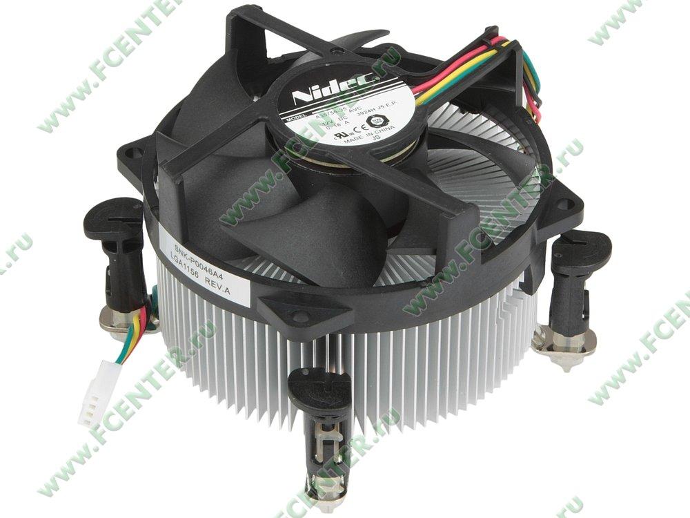 """Кулер для процессора Кулер для процессора Supermicro """"SNK-P0046A4"""" . Вид спереди."""