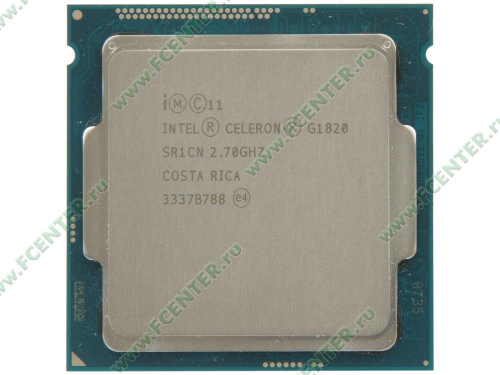 "Процессор Intel ""Celeron G1820"" Socket1150. Вид сверху."