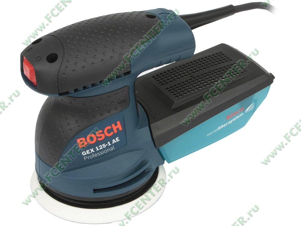 """Шлифовальная машина Bosch """"GEX 125-1 AE Professional"""", эксцентриковая. Вид спереди."""