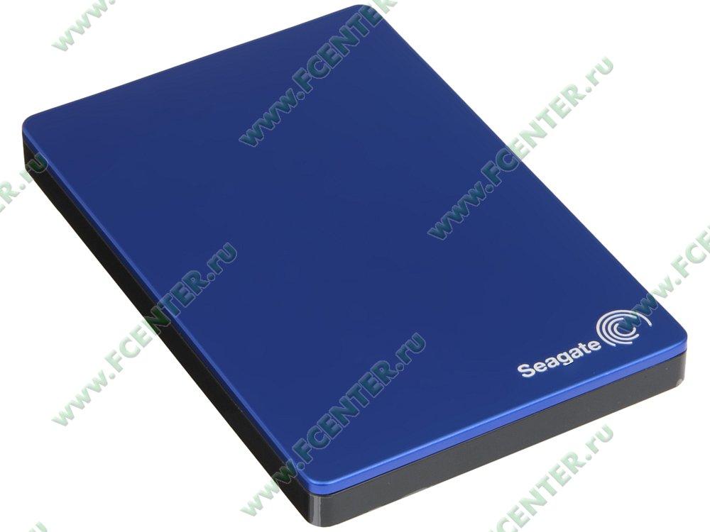 """Внешний жесткий диск 2ТБ Seagate """"Backup Plus Portable STDR2000202"""" (USB3.0). Вид спереди."""